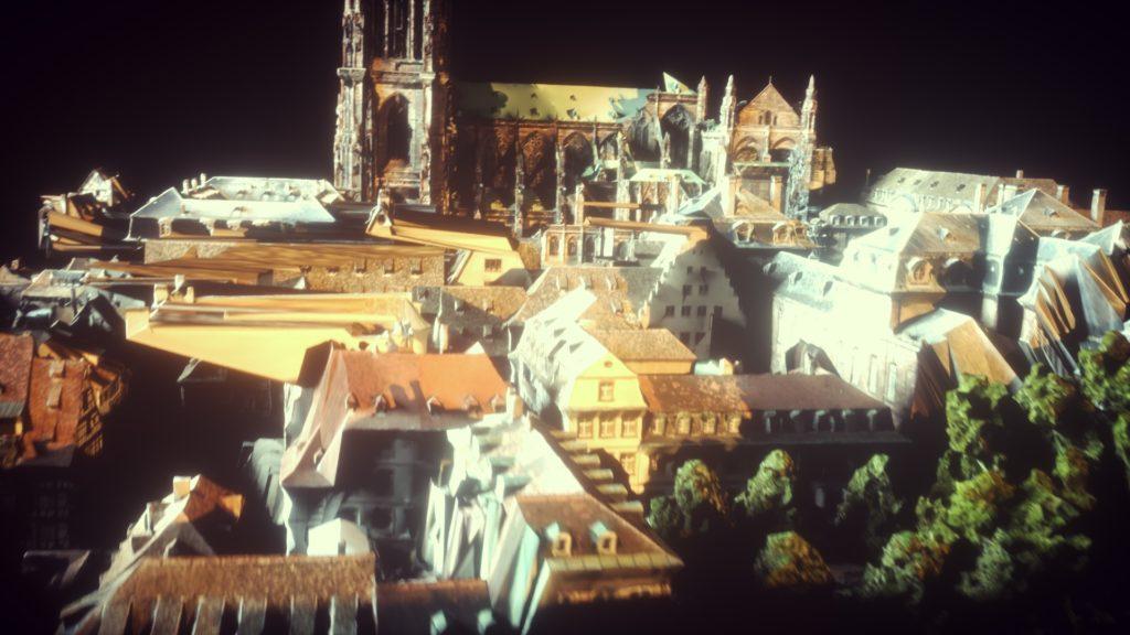Cathedrale Notre Dame de Strasbourg 3d Glitch