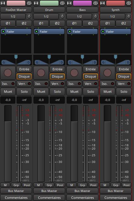 Ardour 4 tracks
