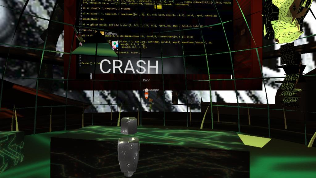 CrashServer Headquarter Concert 2 mozilla hubs 3d VR