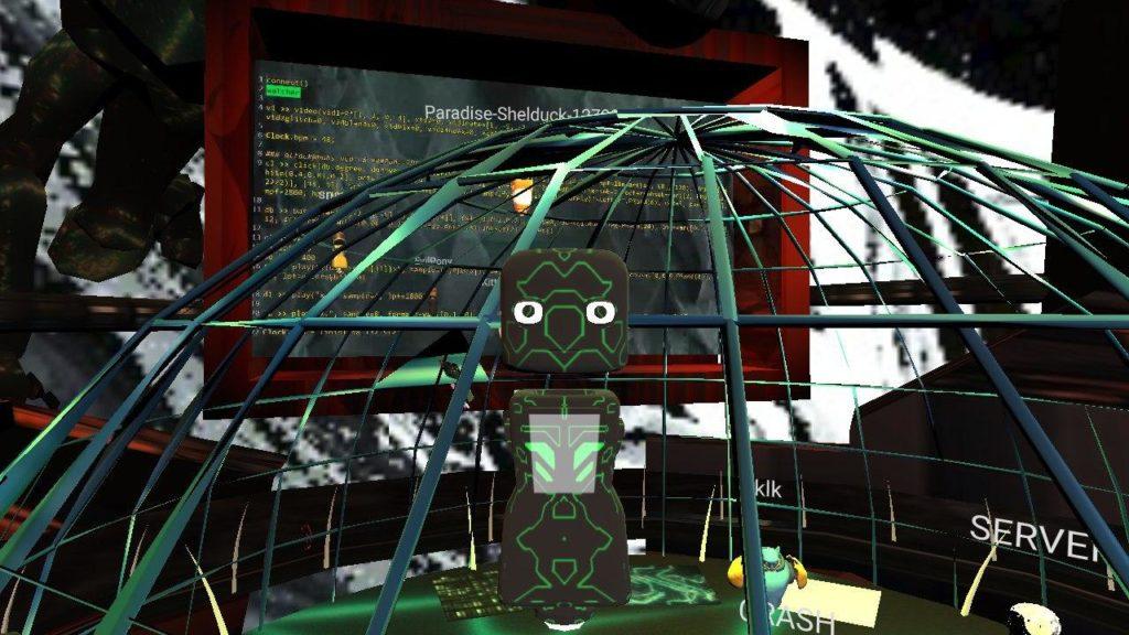 CrashServer Headquarter Concert mozilla hubs 3d VR